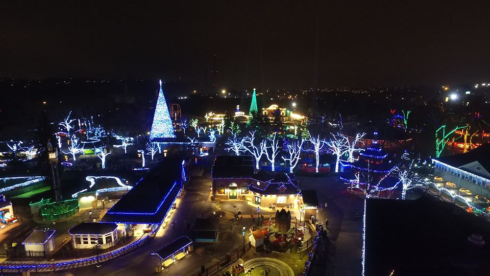 You'll be in awe at this amusement park transformed into a winter wonderland.