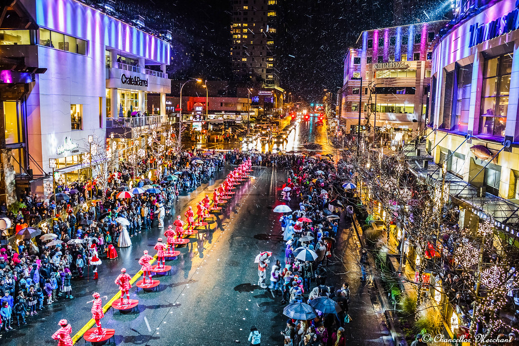 A nightly parade celebrating the season of hope and giving.